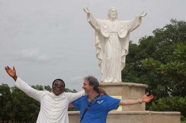 Inaugurazione della Statua del Cristo.
